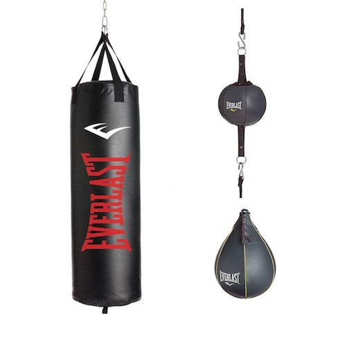 Everlast 3 piece heavy bag kit with double end and speed bags