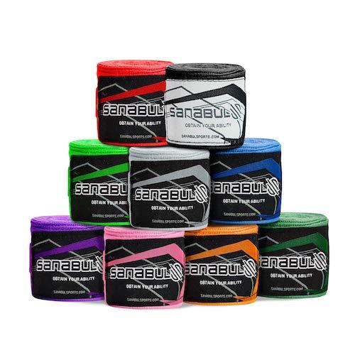 Sanabul elastic boxing straps.