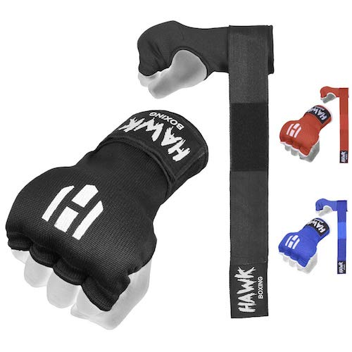 Hawk padded inner gel straps for combat sports.