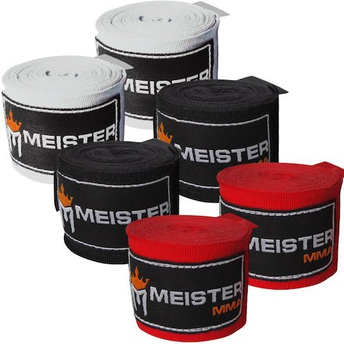 Meister adult MMA and boxing hand wraps.
