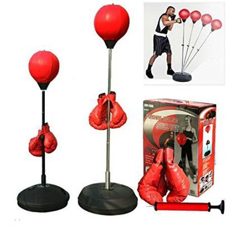 Teenage Punching Speed Bag