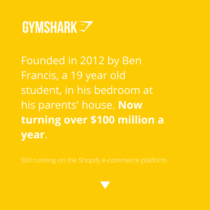 The story of Gym Shark, a $100 million fitness clothing line.