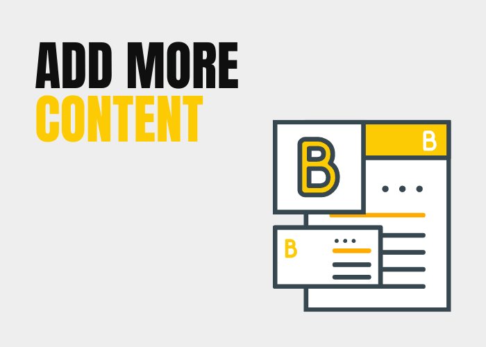 Add more content and start blogging.