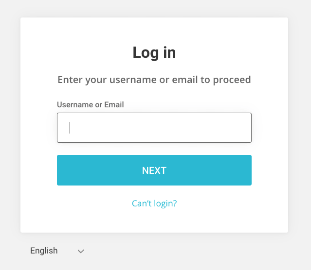 Login page for Site Ground accounts.