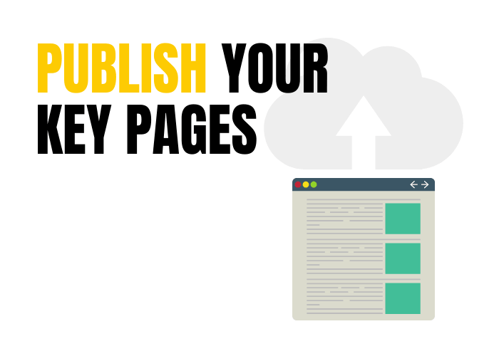Publish your key pages.