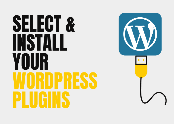 Select and install your WordPress plugins.